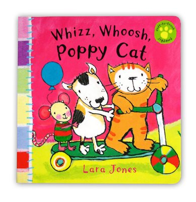 Book cover for Whizz, Whoosh, Poppy Cat